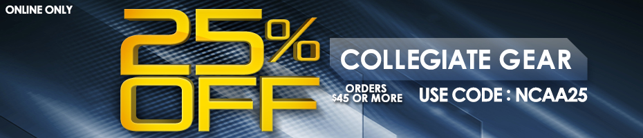 Find all your Collegiate Gear needs at 25% Off!