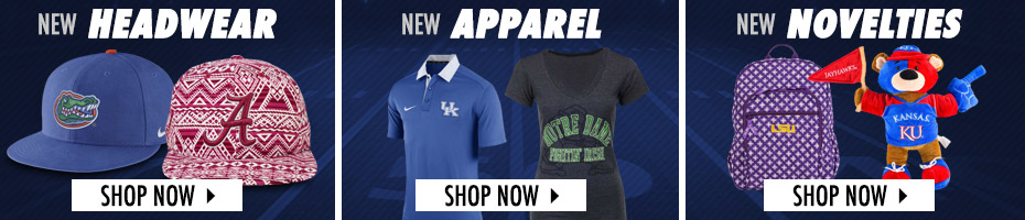 Shop By Category For All Your NCAA Gear!