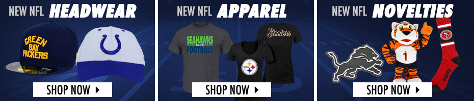Shop NFL Hats, Apparel and Novelties