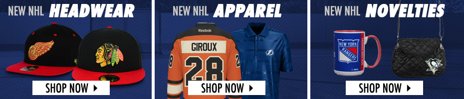 Shop NHL Headwear, Apparel and Novelties