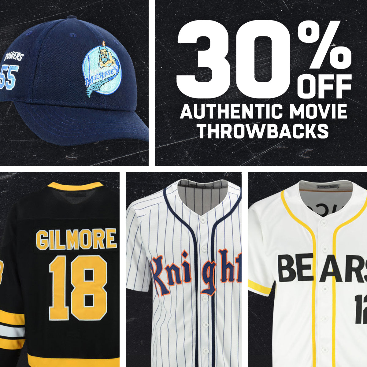b6abf7ce8 LIDS - 30% off Happy Gilmore's jersey & other movie classics