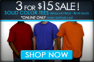 Shop 3 For $15 T-Shirt