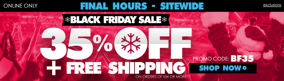Shop Now! Black Friday Ends Tonight!