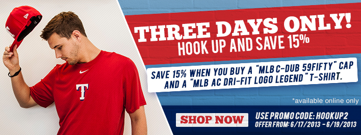 Save 15% MLB Hat & T-Shirt