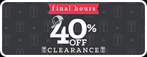 Additional 40% Off Clearance Ends TONIGHT!