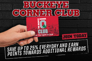 Save up to 25% Today with the Buckeye Corner Club Card!
