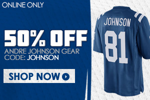 Save 50% on Andre Johnson gear!