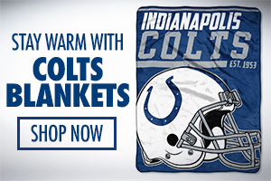 Stay cozy with Colts blankets