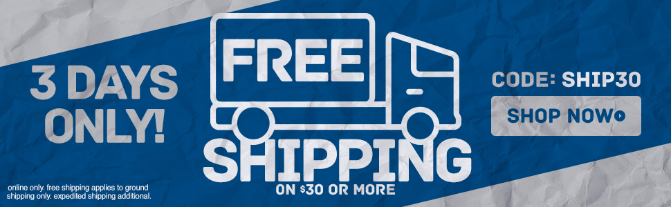 Free Shipping On Orders Of $30 or more