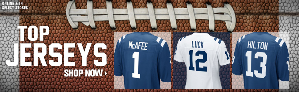 Shop Colts top jerseys now!