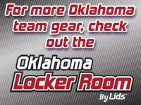 For more Oklahoma team gear, check out the Oklahoma Locker Room by LIDS!