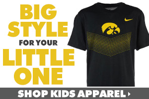 Shop Iowa Hawkeyes kids t-shirts, hoodies and more!