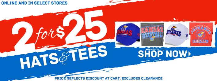 Shop Kansas 2 for $25 Hats and T-Shirts