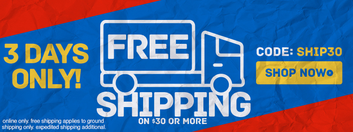 Shop New Arrivals and get Free Ground Shipping on $30