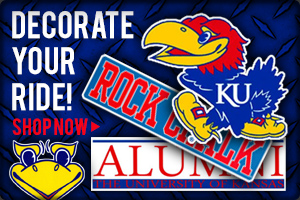 Decorate your ride! Shop KU Auto Accessories Now!