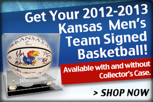 Get your 2013 Jayhawks basketball team signed ball!