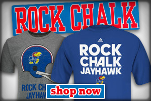 Rock Chalk Jayhawk! Get your gear now!