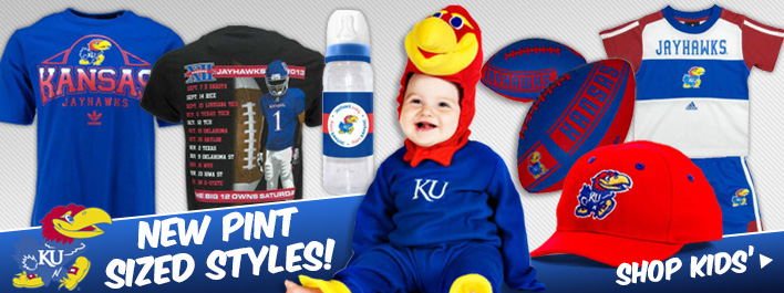 New Pint Sized Styles at KUStore.com! Shop Kids Merchandise