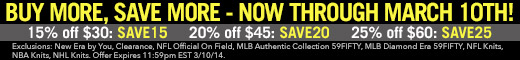 Limited time only! Buy More, Save More! Shop New Era Now!