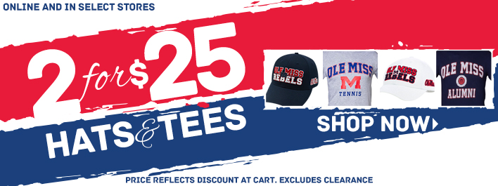 Shop 2 for $25 Hats and T-Shirts