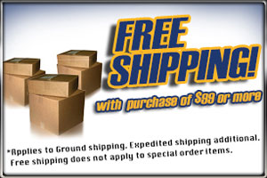 Free Shipping with Purchase of $99 or more