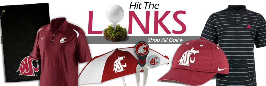Hit the Links! Shop WazzuGear Golf Gear!