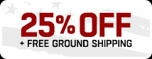 Enjoy 25% Off Orders $24 + Free Ground Shipping!
