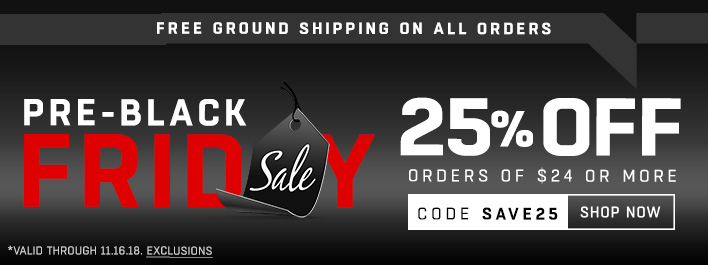 Shop Pre-Black Friday Sale! 25% Off Orders Of $24 Or More!